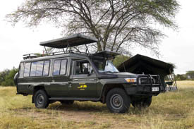 The Toyota Land Cruiser is the vehicle of choice for Naipenda Safaris