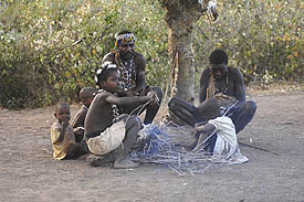The hadzabe cook in open fires